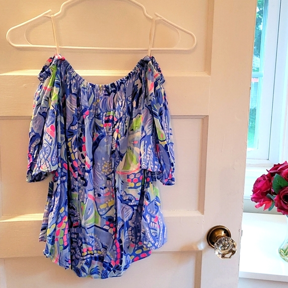 Lilly Pulitzer off the shoulders top